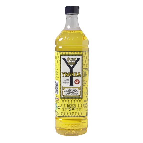 Botella de aceite de oliva Suave 0,4º Ybarra 1l