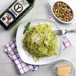 aceite-oliva-virgen-extra-ybarra-gran-seleccion en receta spaghetti