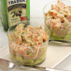 receta de tartar-salmon-aguacate-aceite-oliva-virgen-extra-ybarra-gran-seleccion