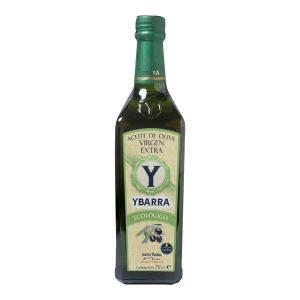 Botella de aceite de oliva Virgen Extra Ecológico Ybarra 750ml