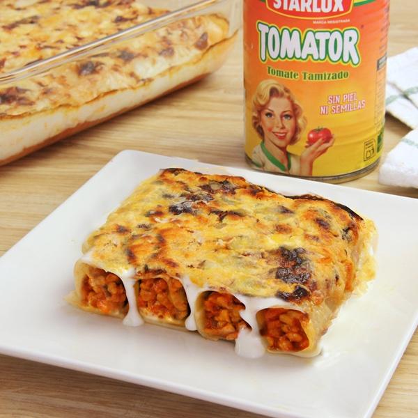 receta de canelones-bolonesa-tomate-natural y tamizado-tomator