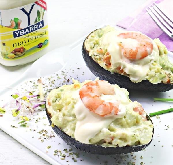 receta de ensaladilla-aguacate con mayonesa ybarra bote de 450 ml