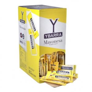 Caja de MAYONESA en sobres monodosis Ybarra para restaurantes bares