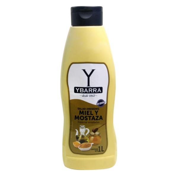 Bote de salsa Miel y Mostaza Ybarra 1 Litro