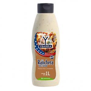 Bote de salsa Ranchera Hollywood Ybarra 1 Litro